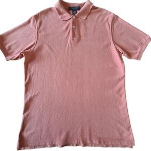Banana Republic Men's Cotton Rust Orange Coloured Polo Shirt Size M